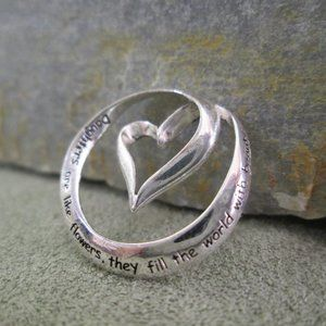 Sterling Silver Charm DAUGHTER Eternity Heart